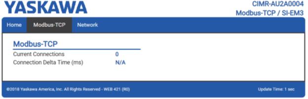 Пример страница Modbus-TCP ПЧ YASKAWA
